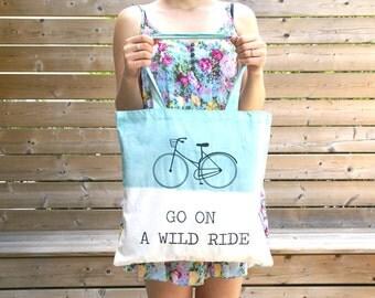 "Fair Trade Organic Cotton Tote Bag ""Wild Ride"""