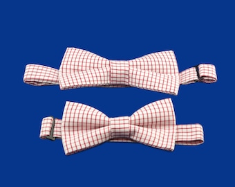 Boys Birthday Outfit Ring Bearer Toddler Bow Tie Wedding Baby Accessory For Father Son Checkers Bowtie