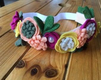 Tropical floral headband
