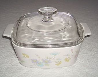 Corning Ware Pastel Bouquet 1 1/2 Qt