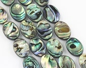 Natural Abalone Oval Shape Loose Beads 15.5'' Long Per Strand.Size 8x10mm/8x12mm/10x14mm/12x16mm/13x18mm. I-ABA-0356