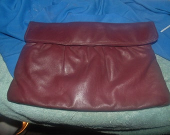 lettisse leather cordavan burgundy clutch handbag purse