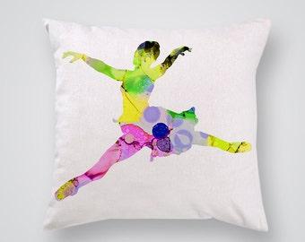 Ballerina Decorative Pillow - Ballet Pillow Cover - Throw Pillow - Home Decor