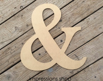 "1/4"" Ampersand Cutout"