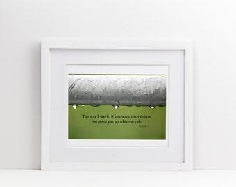 Inspirational Photo, Rain, Motivational Quote