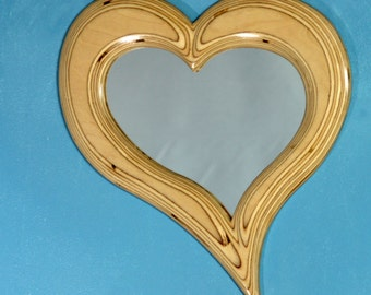 Handcrafted Asymmetrical Heart Mirror