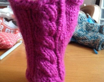 Cabled Fingerless Gloves