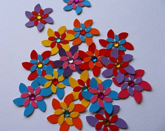 Paper flowers, scrapbooking embellishments, flower punches, die cuts