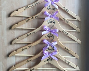 personalised wedding hanger, wedding accessories