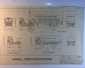 Vintage Truck Blueprint