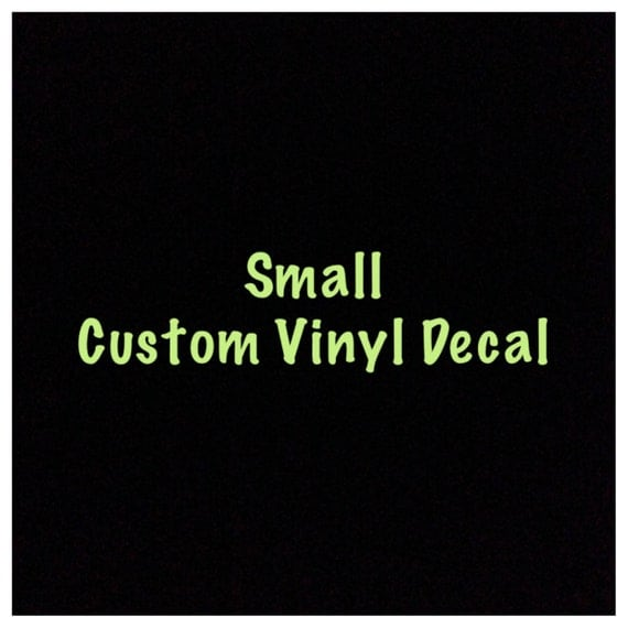 Small Custom Vinyl Decals Name Decal Business Decal Wall Decal - Custom vinyl decals diy