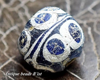 Ancient roman 10 pasting eyes azure beads 【Free shipping】【AB14011A-2】