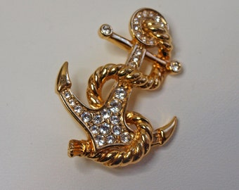 Vintage, Anchor Brooch by Attwood & Sawyer (2424)