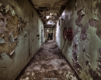Whittingham Asylum - Decay - Abstract - Abandoned - Vintage - Photography - Fine Art