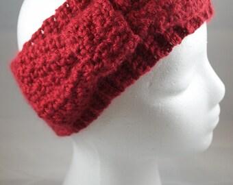 Big Red Bow Headband/Earwarmer