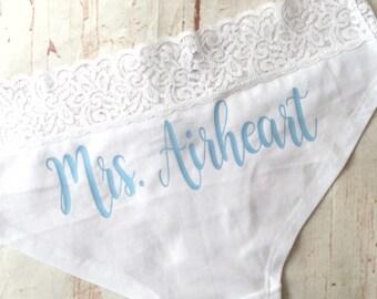Personalized Bride Panties - Custom Bride Panties - Bride Gift - Bachelorette Party Gift - Bachelorette Party - Bridal Lingerie