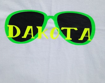 Boys' Personalized Neon Sunglasses T-Shirt