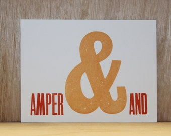 A5 Limited Edition 'Amper&and' Print