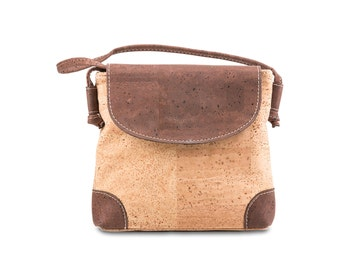 Lady's handbag, shoulder bag made of Cork