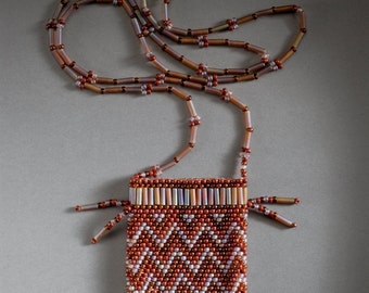 Amulet bag - browns