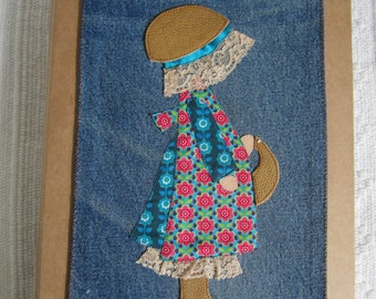 Folder with patchwork pattern.