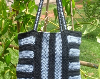 Crochet Striped Bag/Tote bag