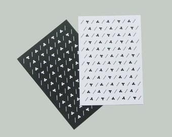 MARCEL – Set of 2 postcards + recycled envelopes