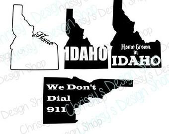 Idaho svg silhouette file / Homegrown in Idaho svg / 911 svg / idaho car decal / idaho shirt / idaho sign file / Idaho clip art /