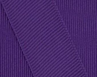 Pansy Purple Grosgrain Ribbon     (05-##-S-012)