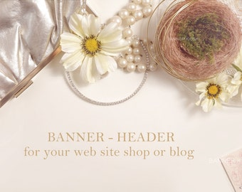 BANNER, Header -  branding, marketing   social media header,Blog header, web site header, feminine stock photo