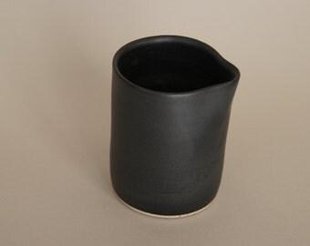 Black stoneware pourer