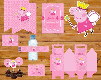 Peppa Pig party printable Kit / Printable Party Kit Peppa Pig