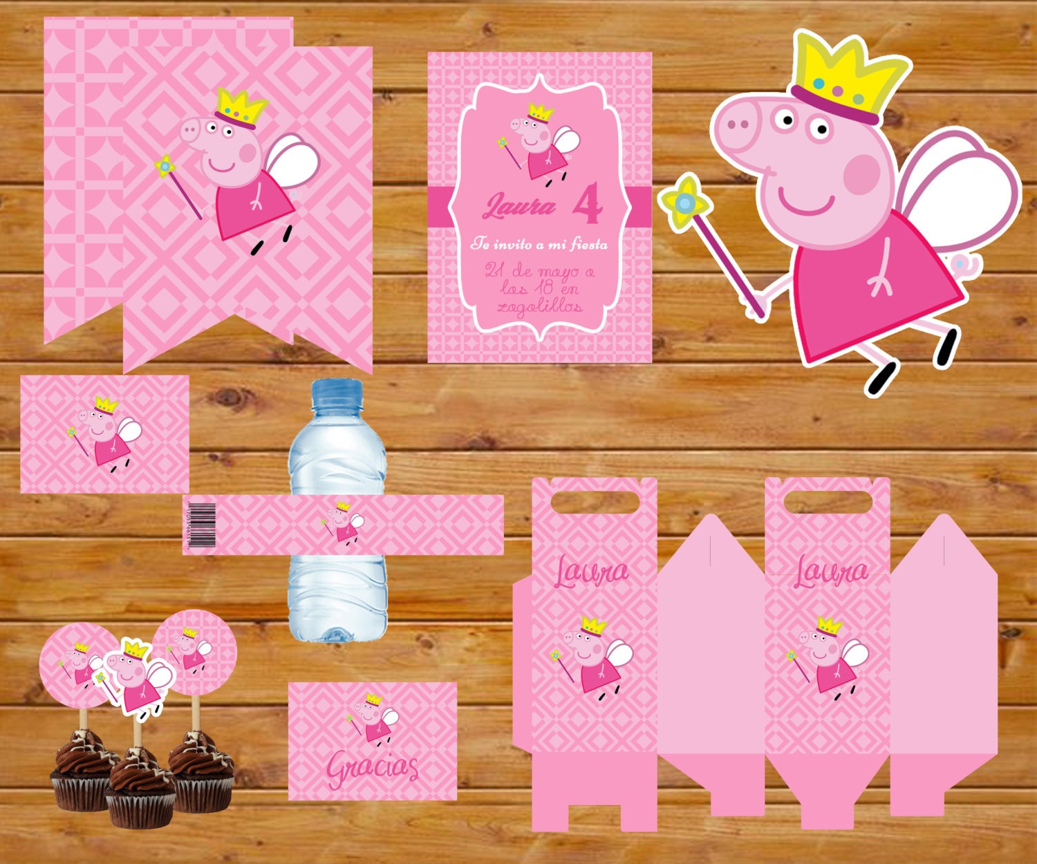 peppa pig party printable kit printable party kit peppa pig from