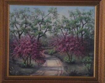 EM Dillard Original oil painting spring scene