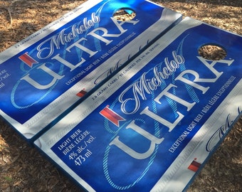 Michelob Ultra Wrapped Cornhole set with bean bags