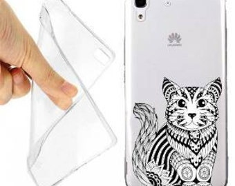 Maori Kitty case cover for huawei y6 transparent