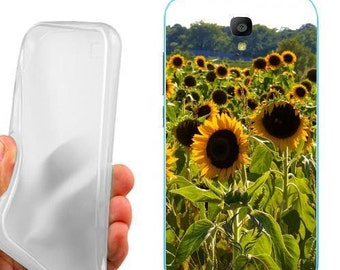 Case cover sunflowers fields for huawei y5