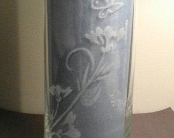 Butterfly flower vase