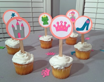 Princess Birthday Cupcake Toppers