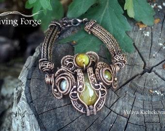 Viking jewelry, Viking bracelet, Wire wrap bracelet, Viking knit, Wirewrap bracelet, Wrapped bracelet, Wire bracelet, Viking knit bracelet
