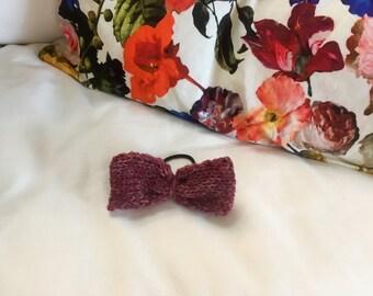 Hair Bow Tie Elastic // Variegated Purple