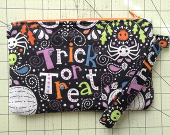 Halloween Trick Or Treat Wristlet