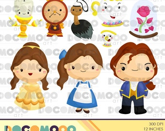 Beauty The Beast Clipart Digital Clip Art For Commercial And Personal Use INSTANT