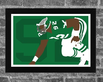 REGGIE WHITE minimalism style limited edition art print. Choose from 3 sizes!