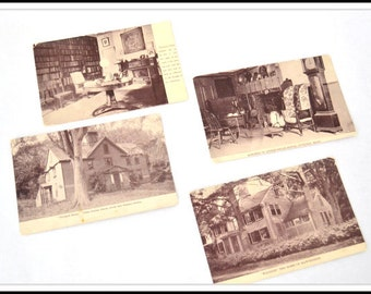 4 Vintage Unused Concord MA Postcards - Photographic Postcards