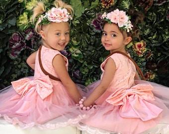 Toddler Dress Size 3T Pink Lace Dress Pink Dress Flower Girl Dress Pink Party Dress Birthday Dress Girls Lace Dress Easter Dress Baby Dress