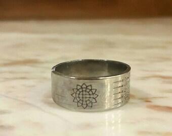 Thai amulet ring Yant 5 Row by Kruba Krissana bring wealth, money, good trade, protection, lucky, prevent dark magic. Thai occult sorcery
