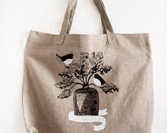 Unique organic linen bag