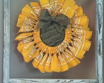 Summer Sunflower Bandana Burlap wreath