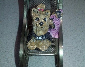 OOAK Yorkie Mommy and Baby